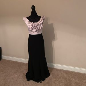 JS Collections Ruffle Gown